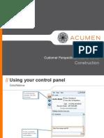 Customer Perspectives Webinar Construction