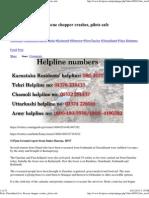 Print _Uttarakhand Live_ Rescue Chopper Crashes, Pilots Safe