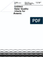 1980 USEPA Office of Water- Ambient Water Quality Criteria for Arsenic