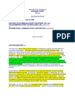 Eastern Telecommunication v International Communication Corp 135992 Jul23,2004