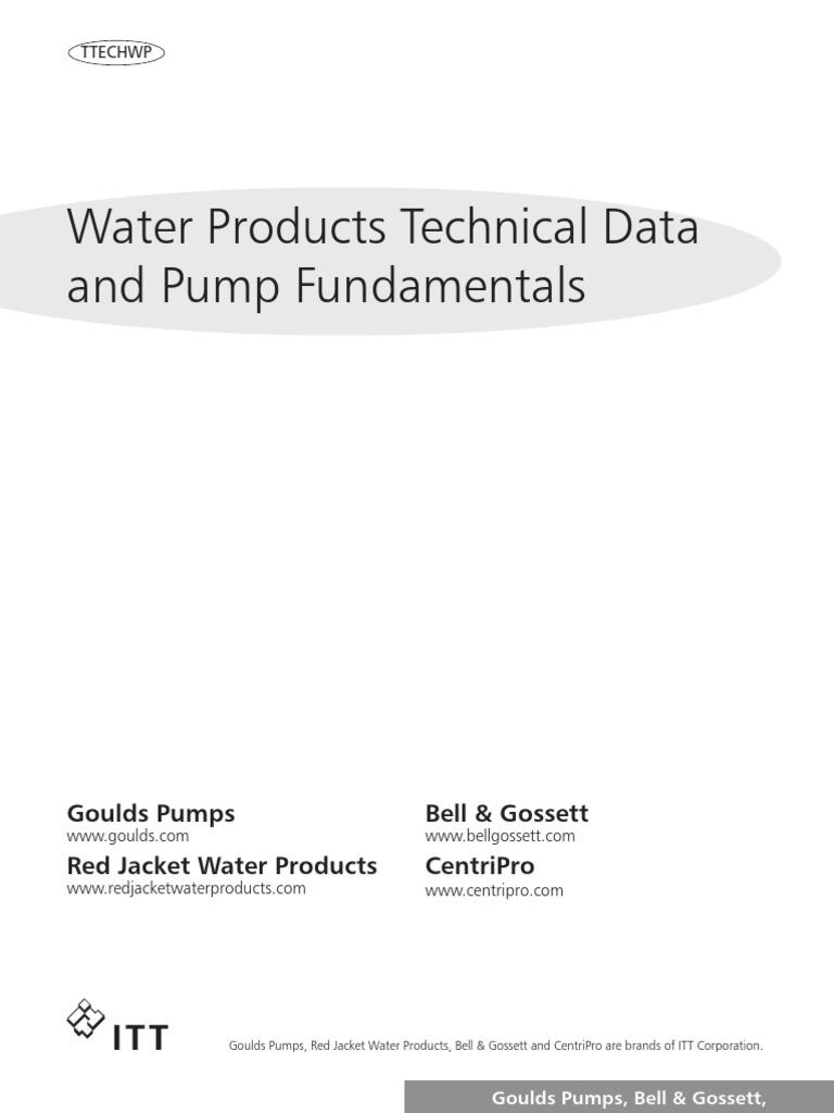 Centrifugal Pump Selection Hydraulic Engineering Bell Amp Gossett Wiring Diagram