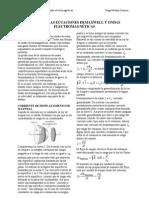 Física 3. por Hugo Medina Guzmán. Capítulo 6. .Las Ecuaciones de Maxwell y ondas electromagnéticas