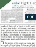 Il Legame Spezzato Tra Psicanalisi e Letteratura, Di Emanuele Trevi - La Lettura 30.06.2013