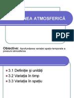presiunea atmosferica