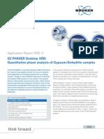 Application Report XRD 11 D2 PHASER Quantitative Phase Analysis of Gypsum DOC-R88-EXS011 High