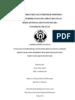Evaluasi Atas Pengelolaan Dan Pelaksanaan Dana Alokasi Khusus (Dak) Pada Pemerintah Kabupaten Banyumas Tahun Anggaran 2011 Dan 2012