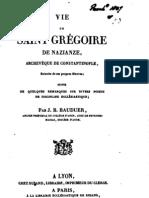 Vie de St Gregoire de Nazianze