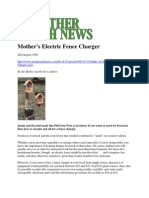 Mother Earth News Fence Charger