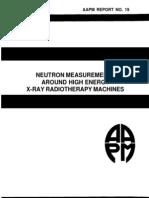 Aapm Report No. 19 Neutron Measurements