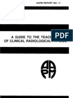 Aapm Report No. 11 a Guide to the Teaching