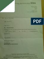 NHS Tribunal Hearing Letter