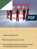 Kepentingan Hubungan Interpersonal Dalam Kerjaya