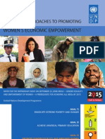 Approaches to promoting women's economic empowerment