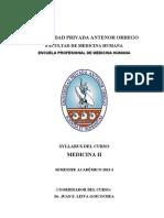Silabus Medicina II 2013 Dr. Juan Leiva Goicochea