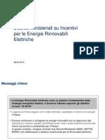 DM su Incentivi per Energie Rinnovabili Elettriche