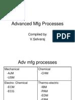 Advanced Mfg Processes