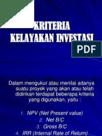 kriteria investasi