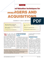 Valuation of Mergers and Acquisitions