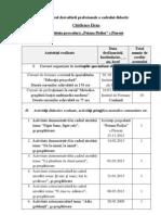 Registrul dezvoltării profesionale a cadrului didactic