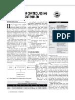 Stepper Motor Control Using Microcontroller