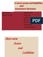 Managing Short-term Assets and Liabilities & Foreign Investment Decisions