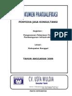 Pra Kualifikasi CV. USFA