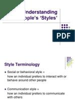 understanding people's 'styles'.ppt