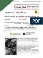 21.6.2013, 'Fotografia. Un Concorso Fotografico Alla Ricerca Del Liberty', Varese News
