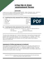 Assessment, Hip & Knee Score