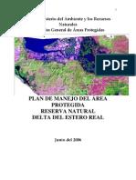 Plan Manejo Estero Real 2006 Marena