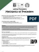 Precedent Handout 2011 12