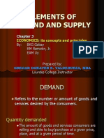 Elements of Demand and Supply