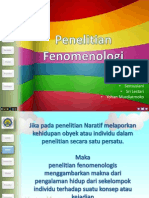 Penelitian Fenomenologi