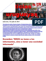 Noticias Uruguayas miércoles 3 de julio del 2013