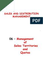 06 - Management of Sales Territories & Quotas
