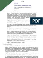 Lei 5.553 Dispõe sobre a apresentação e uso de documentos de ident. pessoal