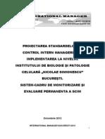 Proiectarea SCIM Si Implementarea La Nivelul Institutului