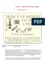 Edward Winter - Capablanca - How I Learned to Play Chess