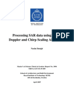 Processing SAR Data Using RDA and Chirp Scaling Algorithms