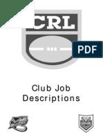 Club Job Descriptions