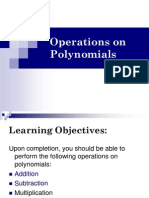1.5 Operations on Polynomials