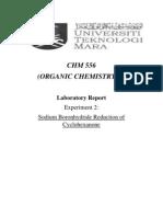 Sodium Boronhydride Reduction of Cyclohexanone