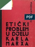Kangrga Milan; Etički problem u delu Karla Marksa; ; Naprijed; 1963
