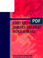 Subset Polynomial Semirings and Subset Matrix Semirings
