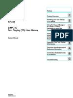 HMI S7200 Text Display User Manual