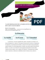 La Incorporacion de La Familia en El Proceso Educativo de Sus Hijos