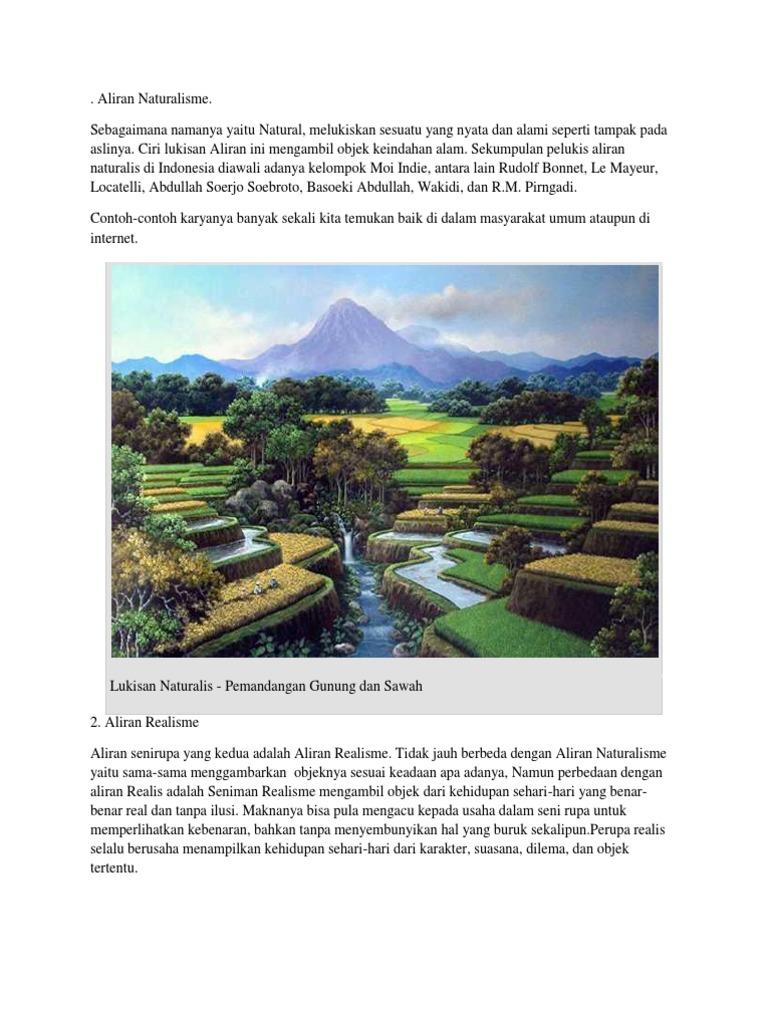 Contoh Gambar Aliran Naturalisme - Contoh Resource