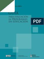 DiNIECE GUÍA PARA EVALUACIÓN de PROGRAMAS EN EDUCACIÓN