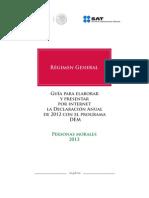 Personas Morales Regimen General