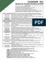 Calendario Iniciacao Cientifica Propp 2013 (2)